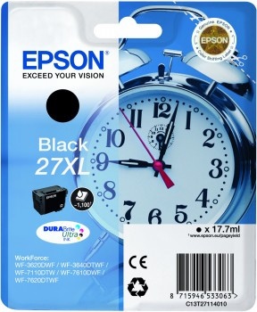Epson 27XL Cartridge Black C13T27114010 Main Image