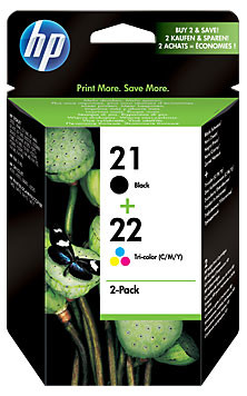 HP 21/22 Cartridge Black + Combo Pack Tri-Color (SD367AE) Main Image