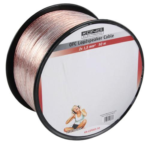 Konig OFC Loudspeaker cable (2 x 1.5 mm) 50 meters Main Image