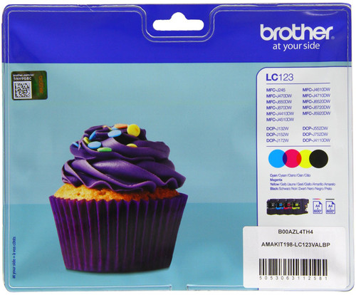 Brother LC-123 Color Value Pack (BCMY) LC-123VALBP Main Image