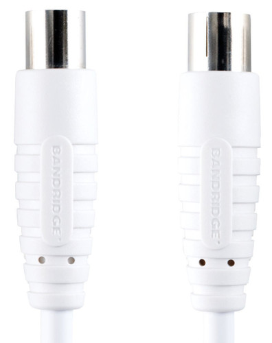 Bandridge Câble d'antenne numérique coaxial 100 dB 7,5 mètres Blanc Main Image