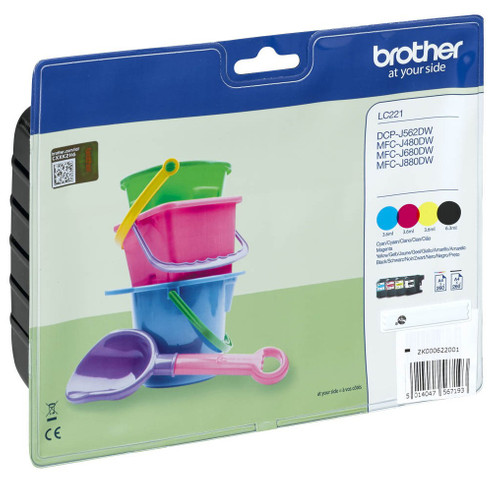 Brother LC-221VALBP 4-Color Pack Main Image