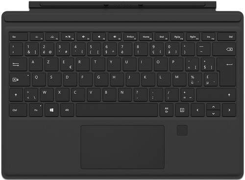 Microsoft Surface Pro 4 Type Cover + Empreinte digitale ID AZERTY Main Image