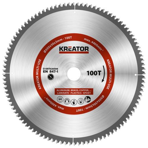 Kreator Lame pour scie Universelle 305 x 30 x 3 mm 100T Main Image