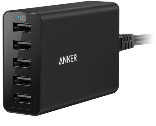 Anker PowerPort 5 Ports 8A Black Main Image