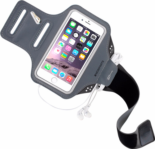 Mobiparts Comfort Fit Sportarmband Apple iPhone 6/6s Grijs Main Image