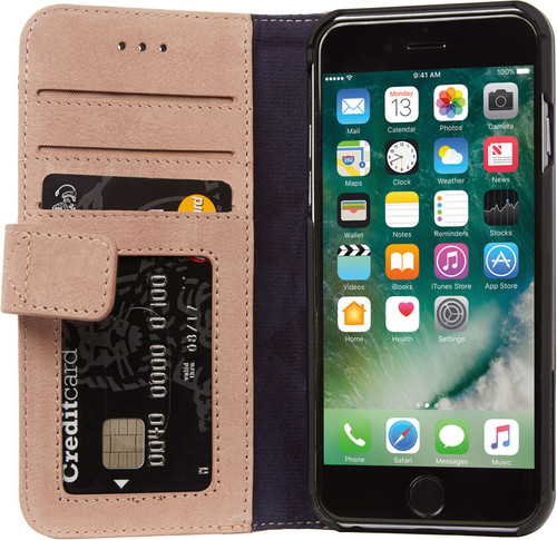 sports shoes cc257 60457 Decoded Leather Wallet Case Apple iPhone 6/6s/7/8 Pink