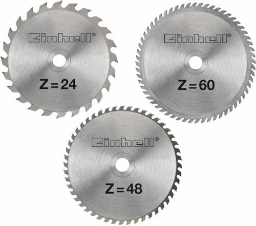 Einhell Set de lames pour scie 250x30x3mm 24/48/60T Main Image
