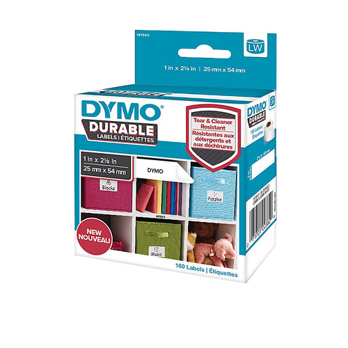 Dymo LW Duurzame Label Wit 160 Labels (25 mm x 54 mm) Main Image