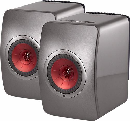 KEF LS50 Sans fil Gris (par deux) Main Image