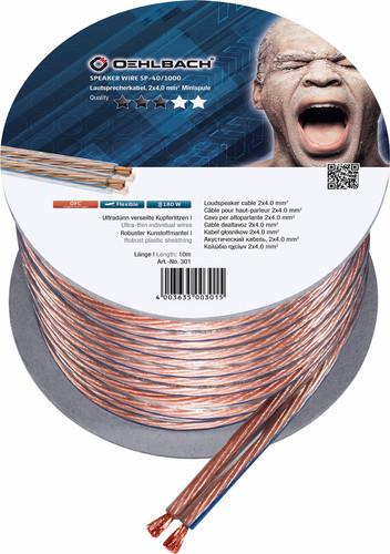 Oehlbach Câble d'enceintes (2 x 4 mm) 10 mètres Main Image