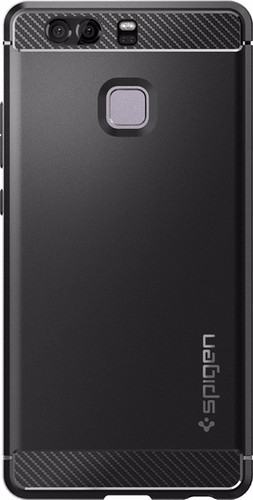 on sale 4bac9 5bf81 Spigen Rugged Armor Huawei P9 Back Cover Black