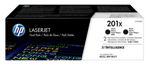 HP 201X Toner Noir XL Lot de 2 (CF400XD) Main Image