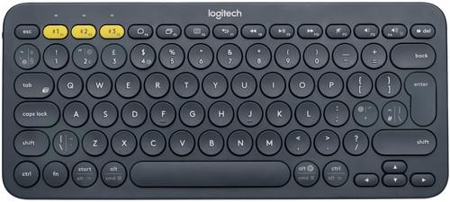 Logitech K380 Clavier Sans Fil AZERTY Gris Main Image