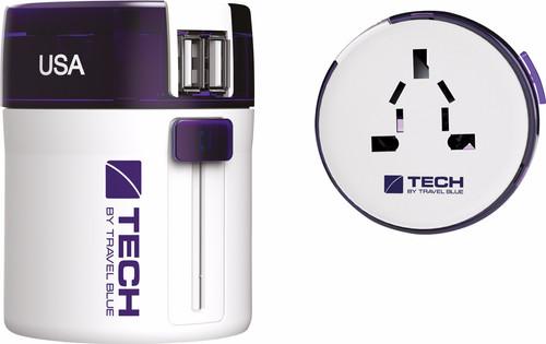 Travel Blue Twist & Slide Adapter Dual USB - Europa Main Image