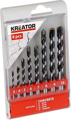 Kreator Set de forets à béton 8 pièces 3-10mm Main Image