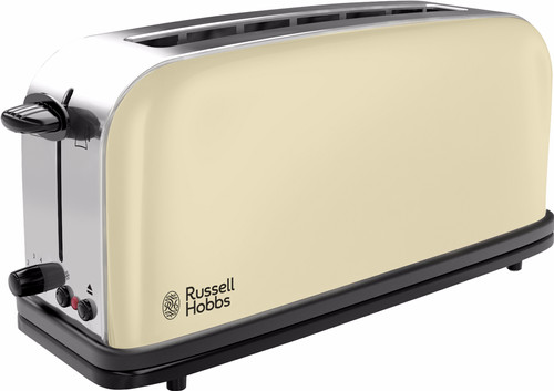Russell Hobbs Colours Plus+ Classic Cream Long Slot Broodrooster Main Image