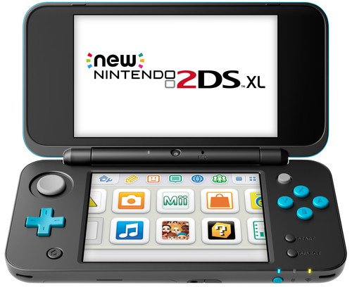 Nintendo 2DS XL Zwart / Turquoise Main Image