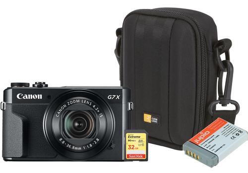 Kit de démarrage - Canon Powershot G7 X II + Carte mémoire + Sac + Batterie supplémentaire Main Image