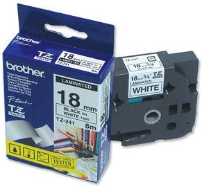Brother TZ-241 Label Zwart op Wit (18 mm x 8 m) Main Image