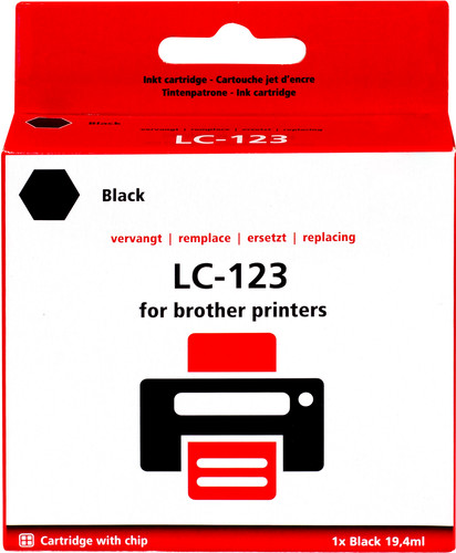 Pixeljet LC-123 Black for Brother printers (LC-123BK) Main Image