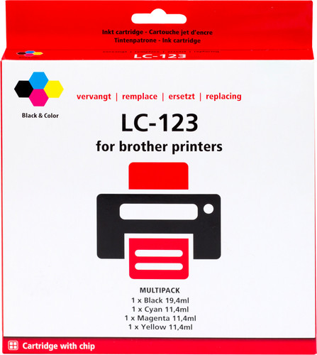 Pixeljet LC-123 4-Color Pack for Brother printers (LC-123VALBP) Main Image