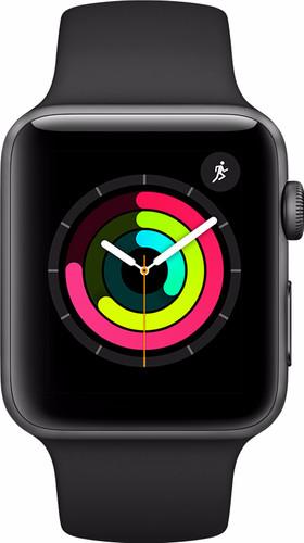 Apple Watch Series 3 42mm Space Gray Aluminum/Black Sport Band Main Image