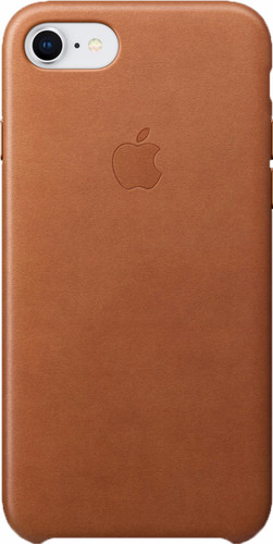 Apple iPhone 7/8 Leather Back Cover Saddle Brown Main Image