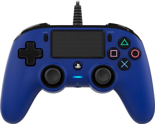 Nacon PS4 Official Manette Filaire Bleu Main Image