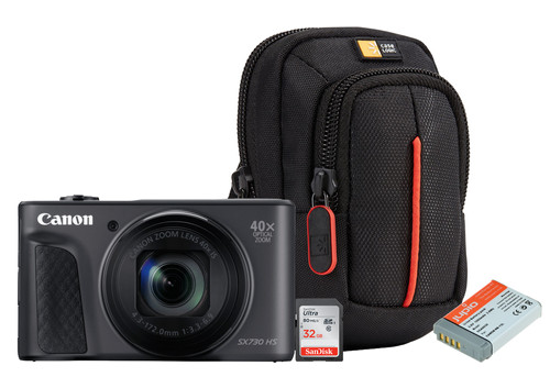 Kit de démarrage - Canon Powershot SX730 Noir Main Image