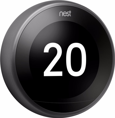 Google Nest Learning Thermostat V3 Premium Zwart Main Image