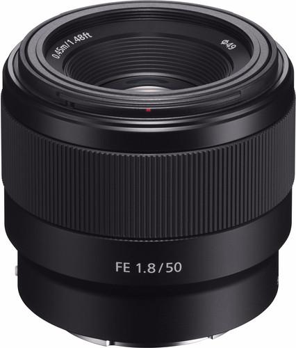 Sony FE 50mm f/1.8 bovenkant
