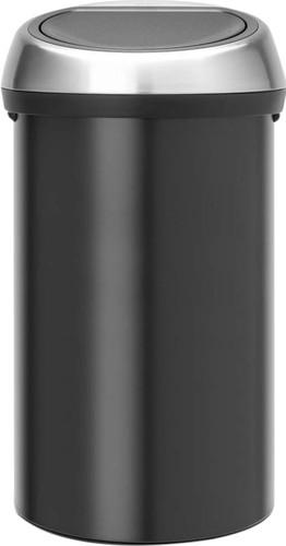 Brabantia Touch Bin 50 Liter Zwart.Brabantia Touch Bin 60 Liter Zwart Fingerprintproof Deksel