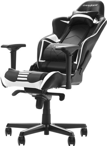 Strange Dxracer Racing Pro Gaming Chair Black White Machost Co Dining Chair Design Ideas Machostcouk