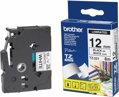Brother TZ-231 Label Zwart op Wit (12 mm x 8 m) Main Image