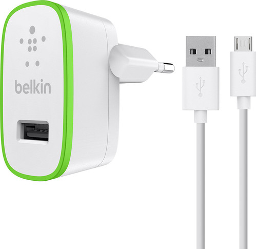 Belkin Charger Adapter Micro USB 2.4A 1.2M White Main Image