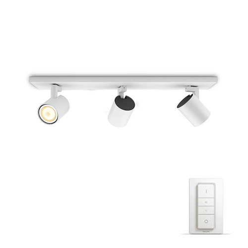 Philips Hue Runner opbouwspot White Ambiance 3-lichts Wit Bluetooth Main Image