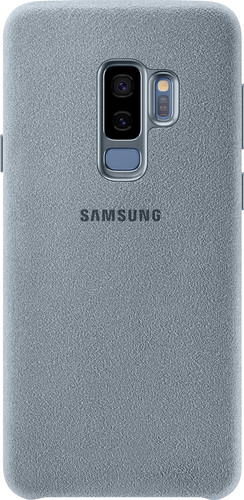 the latest bb9a2 991ff Samsung Galaxy S9 Plus Alcantara Back Cover Light Blue