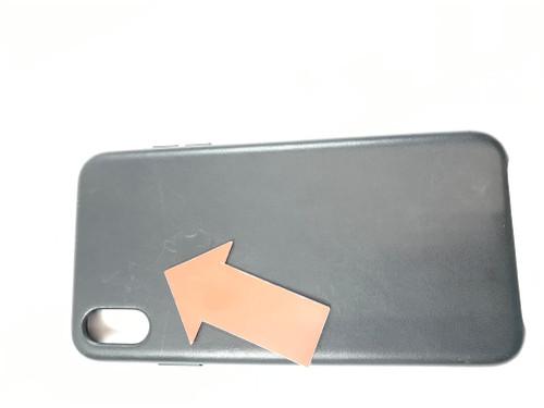 Deuxième Chance Apple iPhone Xs Max Coque arrière en Cuir Noir