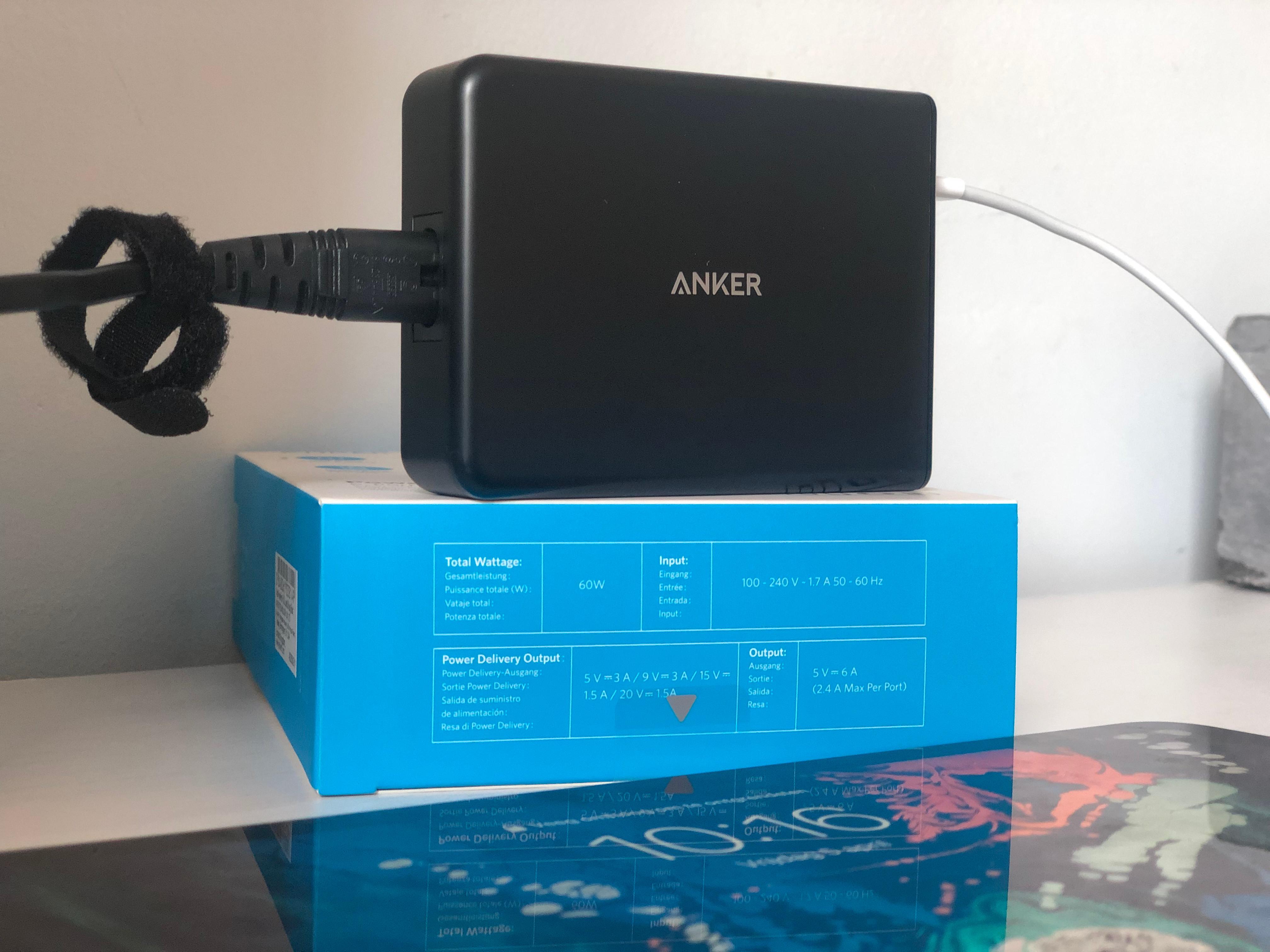 Anker PowerPort+5 met 5 usb poorten en Power Delivery