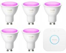 Philips Hue White & Colour Starter Pack GU10 - 5 lampen