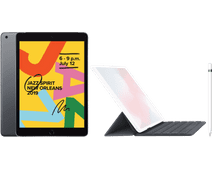 Apple iPad (2019) 128 Go Wi-Fi Gris sidéral + Smart Keyboard AZERTY + Pencil