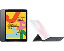 Apple iPad (2019) 32 GB Wifi Space Gray + Smart Keyboard AZERTY