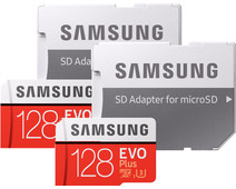 Samsung microSDXC EVO+ 128 GB 100MB/s CL10 + SD Adapter Duo Pack