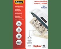 Fellowes Laminating Sheets Capture 125mic A4 (100 units)
