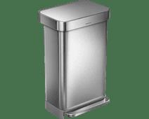 Simplehuman Rectangular Liner Pocket 45 Litres Inox