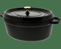 Staub Ovale Stoof-/Braadpan 31 cm Zwart