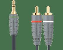 Bandridge 3,5 mm naar RCA Kabel 2 Meter