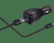 Samsung USB C Dual Autolader 1,5M Zwart 2A