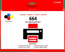 Pixeljet T66 Lot de 4 Couleurs pour Epson EcoTank
